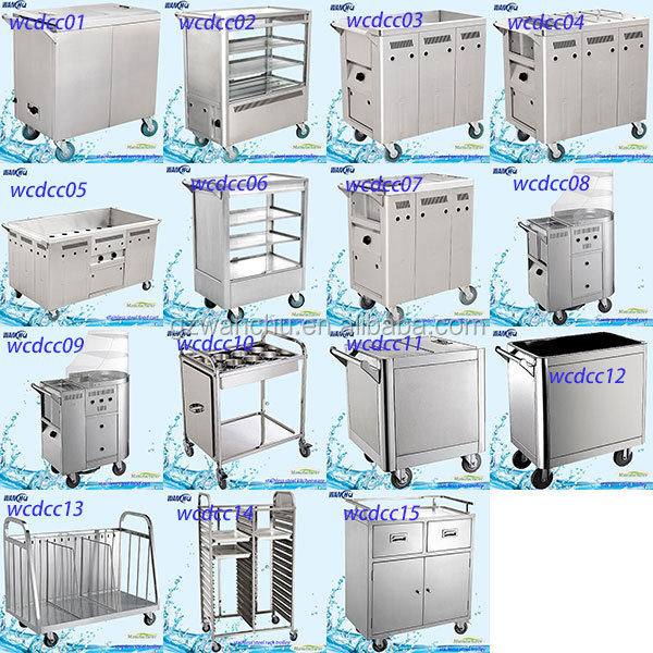 Electric Snack Trolley Stainless Steel Mobile_60134960718 on Modern Kitchen Worktable