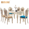 BISINI Luxury French Romantic Dining Room Set, Hand Carved Solid Engraving Dining Table and Chair BF08-10012