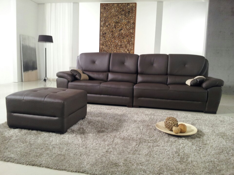 Home Furniture With Genuine Leather Sectional