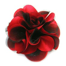 Fabric flower for garment decoration wedding sequin brooches