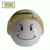Customized fanncy smile face PU anti stress balls