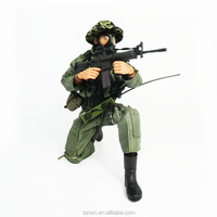 3D plastic soldiers figures 12 inch action figure with military weapon army men figurines