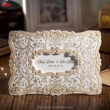 Elegant india wholesale handmade paper crafts European Wedding Invitation Card Embossed designs CW056