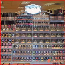 NYX cosmetics display shelf