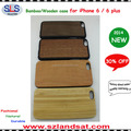 2016 hot sale pc and bamboo wood case cover for iphone 6 wooden cases IPC363