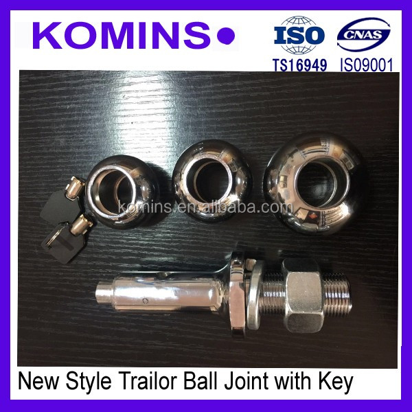 New style 2017 trailer hitch tow ball with convenient action key view