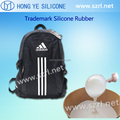 Skin safe silicone rubber for trademark