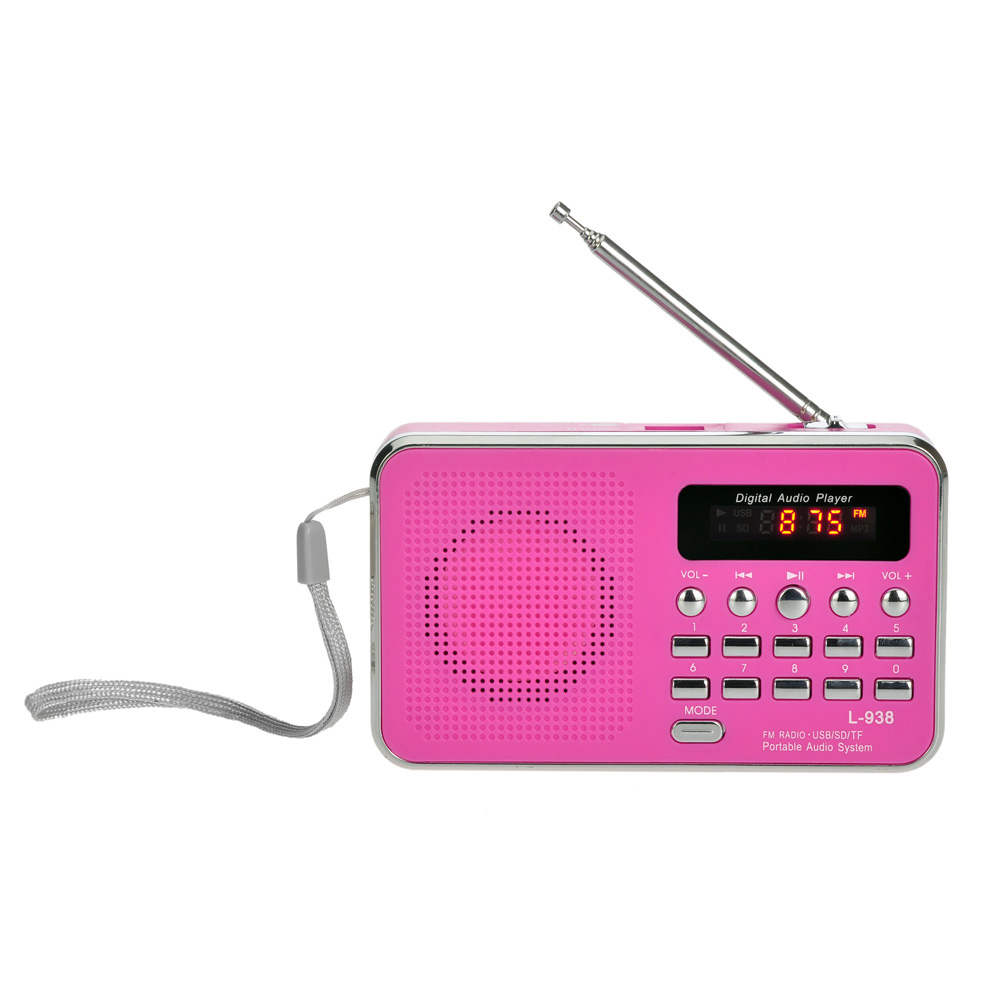 Mini Portable FM Radio Speaker USB TF Micro for SD Card MP3 Music <strong>Player</strong> for PC iPod Phone