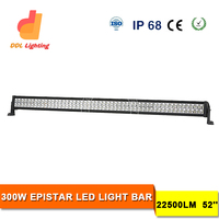 "car accessories 52"" offroad 300W Epistar led light bar China wholesaler for Jeep, pick up"