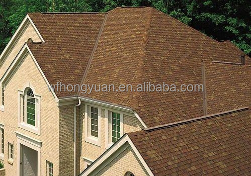 colored asphalt roof tiles
