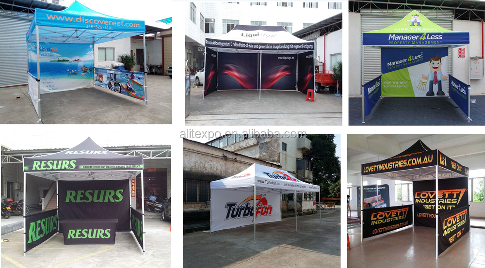 large u shaped metal stretch tension fabric display aluminum extrusion trade show booth - U Shape Canopy 2015