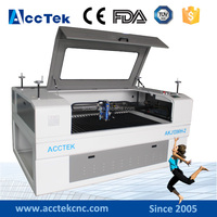 ACCTEK good price low cost cutting metal plate machine co2 laser cnc machine