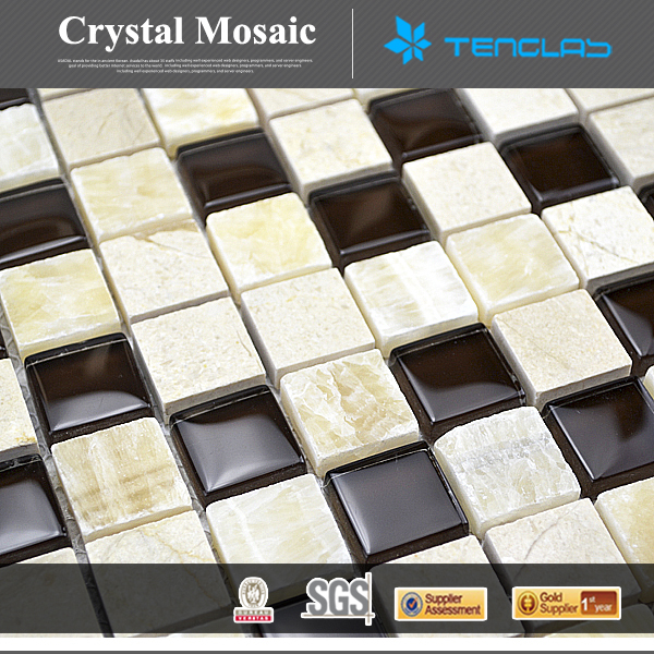 Hot Selling Decorative & multicolour free wall mosaic pattern