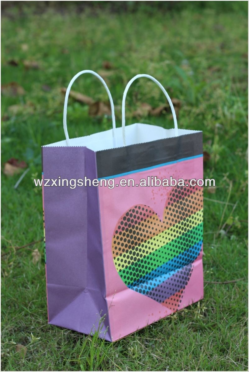 2014 HOT!! fashion paper Gift shopping Bags for paper bags for animal zoo