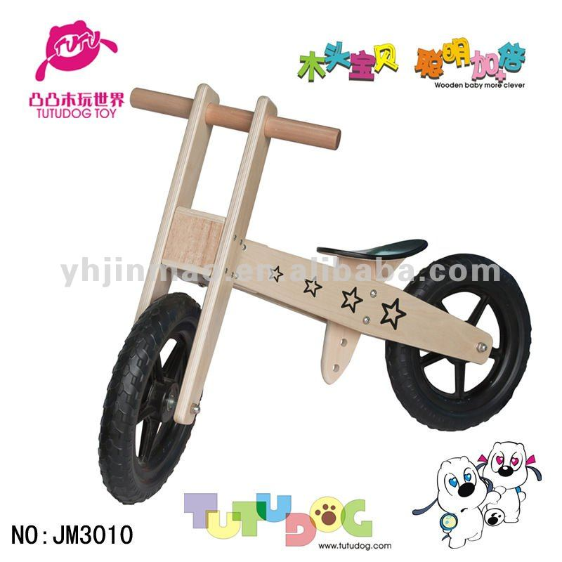 2015 newest children wood bike wood toy car the bicycle for kids