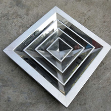 Square stainless steel air diffuser for ceiling ventilation