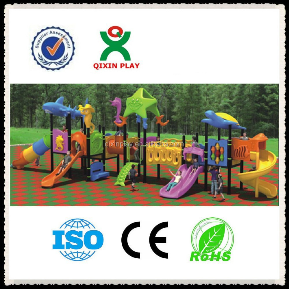 Manufacture playground equipment for 3 years old/playground equipment guangzhou factory/large playground importer QX-XP008