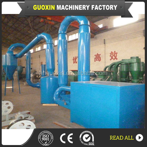1000 kg/h low investment double stove sawdust flash dryer