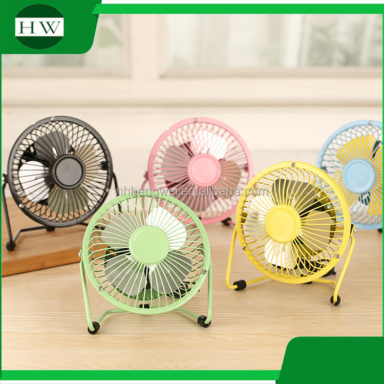 Metal wholesale computer mini portable small electric USB fan with free samples Promotional Gifts