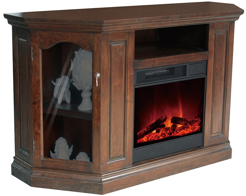 LED display electric fireplace tv stands