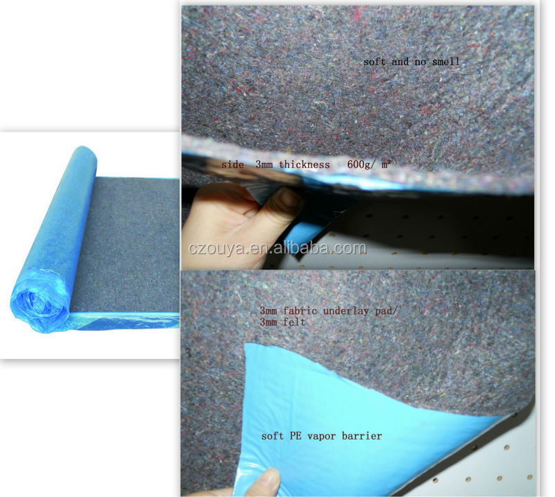 3mm acoustic felt underlay