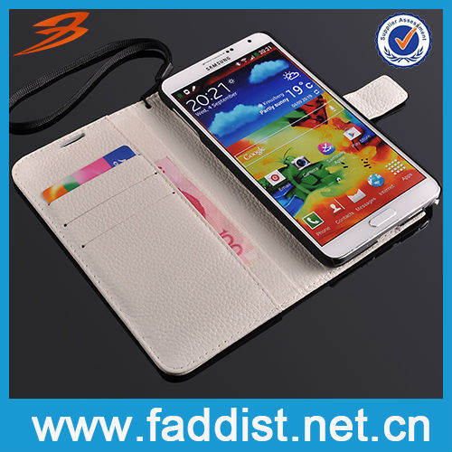 For Samsung Galaxy Note 3 Flip Case Genuine Leather Cover