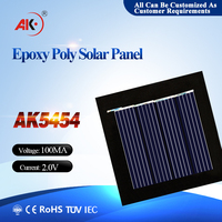 2V 100mA 54*54mm Epoxy Resin Pet Encapsulation Small Mini solar panel for Toys and Led Lights