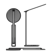 2019 new product dimmable rechargeable led light desk lamp with fast charge mobile phone qi wireless charging charger