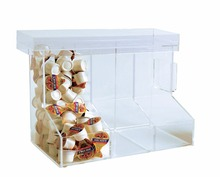 High quality clear acrylic candy box super market bulk food retail bin clear acrylic stackable candy bins