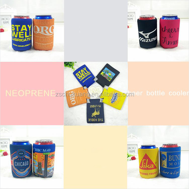 Promotional Neoprene can cooler beer bottle sleeve stubby holder