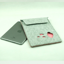 Recyled high quality book cover eco-friendly custom Felt tablet PC bag with double color