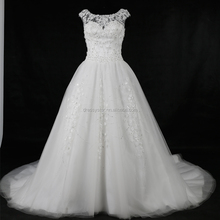 2017 latest wholesale white A line wedding dresses gowns for fat women