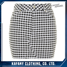 Stylish Smart - Casual Four - Pockets MOTO Gingham Mini Skirt Hot Girls Tight Short Skirt Of Sexy Girls Wearing