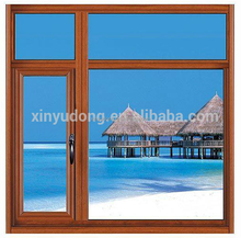high quality wood grain finish aluminium picture and casement windows