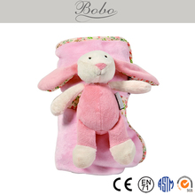 Pink Rabbit Flannel Blanket for Babies