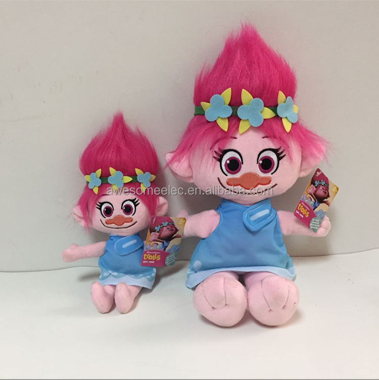 Newest Movie Action Figure Toy Trolls Play Set Cartoon Figure Trolls plush Dolls