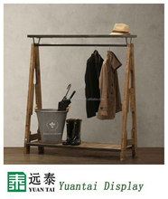 Fashionable textile display rack/display stands/cloth stands racks for men's wear
