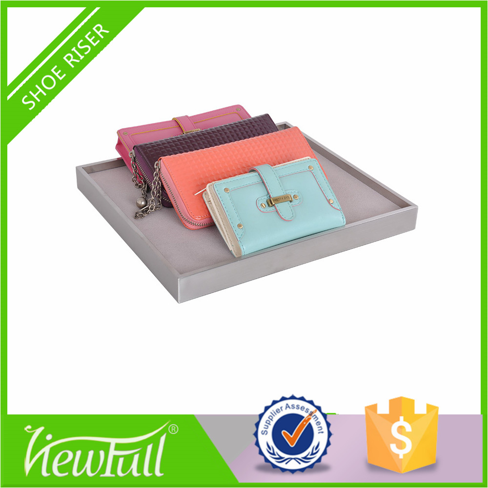 Fashion store wallet and sunglasses display stand for jewelry shop