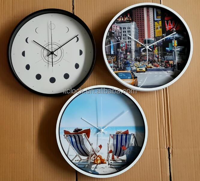 simple silent movement plastic wall clock