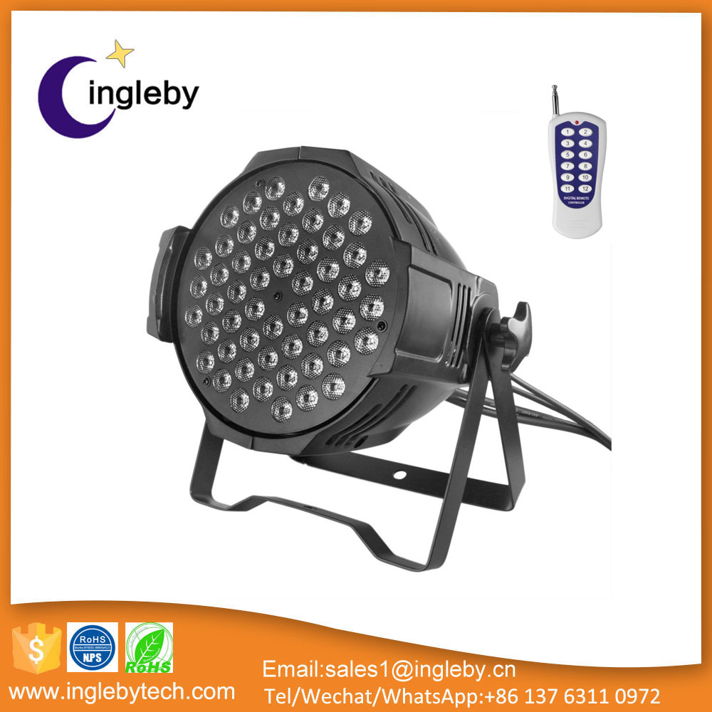 hot sale indoor led par 54 dmx sound control 5in1 rgbwa dj led par lighting