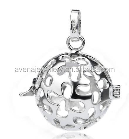 Factory Price 925 Sterling Silver Angel Caller Pendants With Original Mexican Bola Chime Ball Bali Ball Harmony Bola CDM125