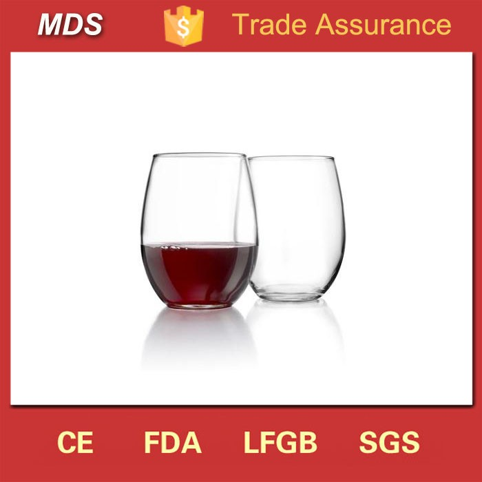 Home goods custom stemless wine glass cup for drinking