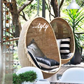 rattan cheap hanging egg chair