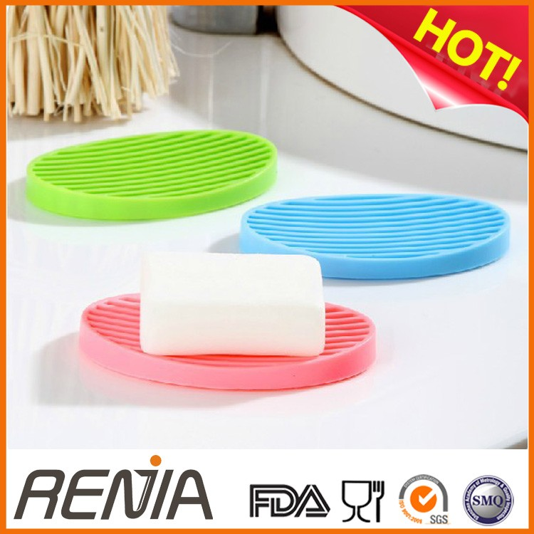 RENJIA chocolate soap making tools soap dish that drains silicone inset soap dish