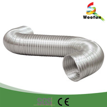 Kitchen air conditioner semi rigid flexible exhaust duct