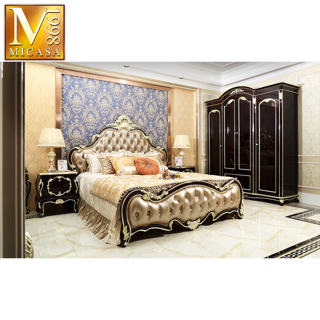 Foshan Home European Style Bed Room Set Classic Bedroom Furniture