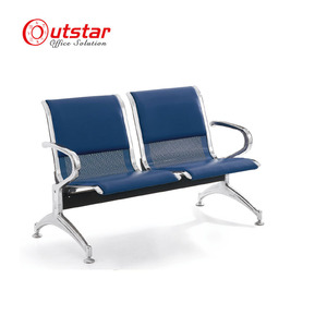 Wholesale used lobby hall waiting chair with stainless steel leg
