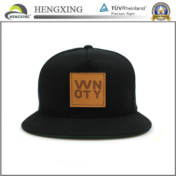 Custom Leather Patch Logo Snapback Hats Wholesale Caps