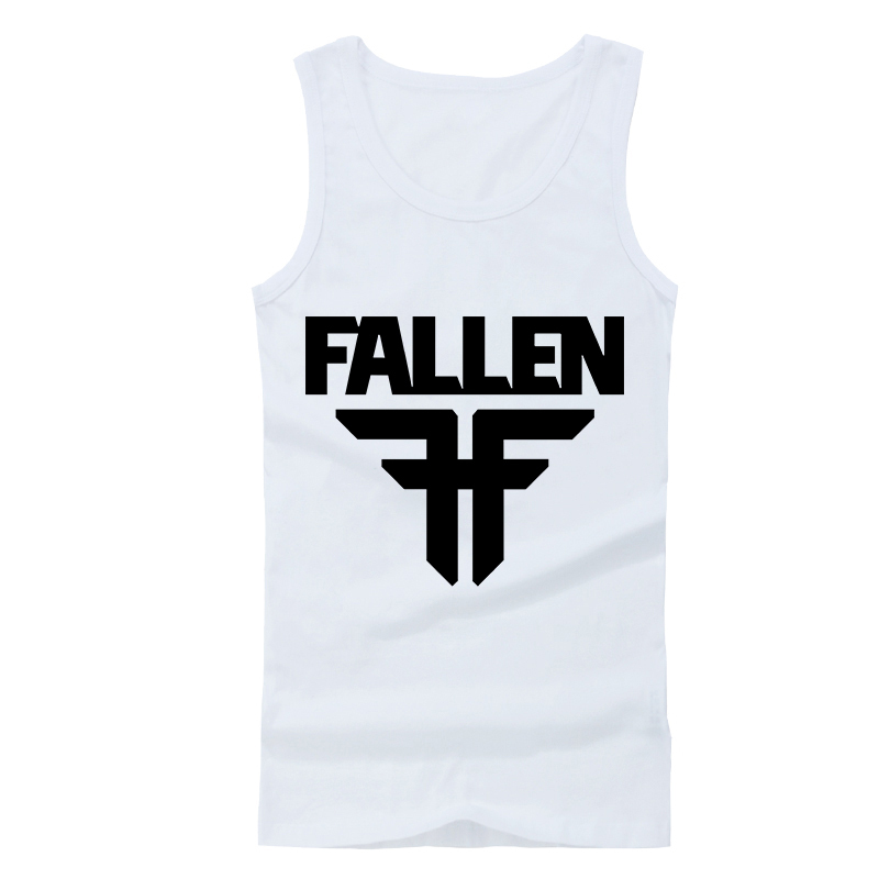 Hot Men Clothing Fallen Singlets for Men Sleeveless fallen Rock Roll Band Skateboard Vests Sport Summer Spring Undershirt
