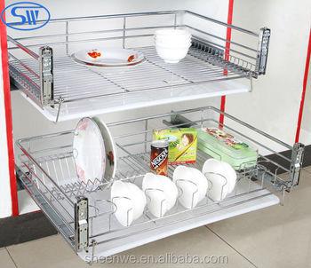 Guangzhou Factory Supply Kitchen cabinet design kitchen slide pull ...